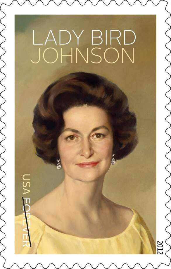 Another stamp in the series comes from the former first lady's official White House portrait. Photo: USPS