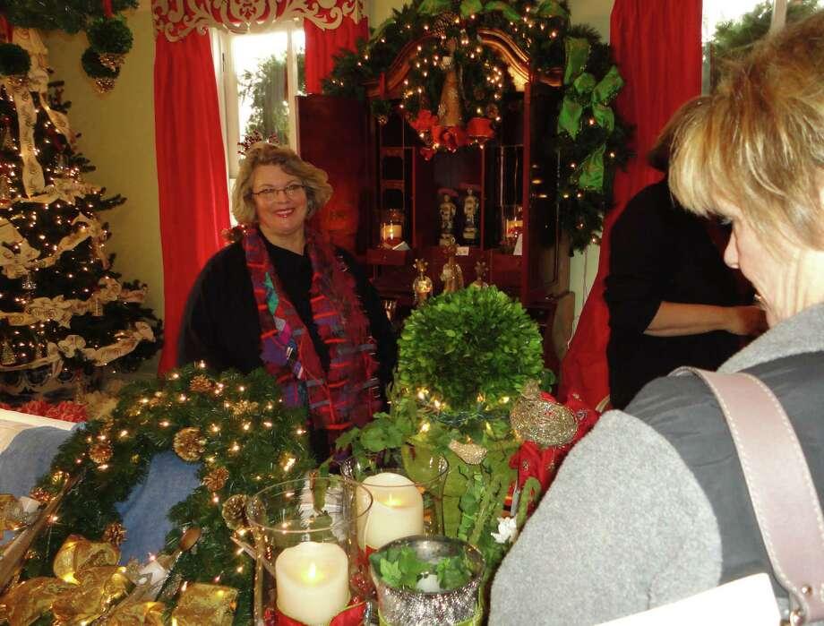 The Burr Homestead explodes with distinctive holiday decor for the 31st annual Fairfield Christmas Tree Festival. Fairfield CT 11/30/12 Photo: Meg Barone / Fairfield Citizen freelance