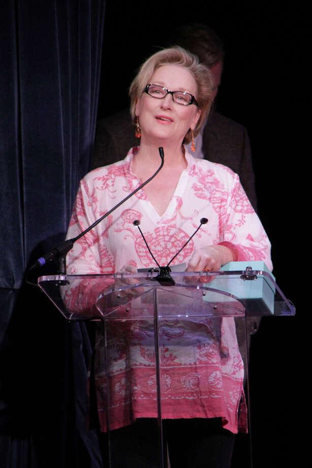 Meryl Streep on October 6, 2012 in East Hampton, New York.  She finally won another Oscar. (Photo by Sonia Moskowitz/Getty Images) Photo: Sonia Moskowitz, Getty Images / 2012 Getty Images