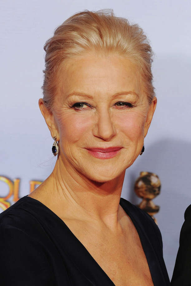 Actress Helen Mirren with the Cecil B. DeMille Golden Globe award for career achievement on January 15, 2012.  And then later in the year she played Alma Hitchcock. Photo: Kevin Winter, Getty Images / 2012 Getty Images