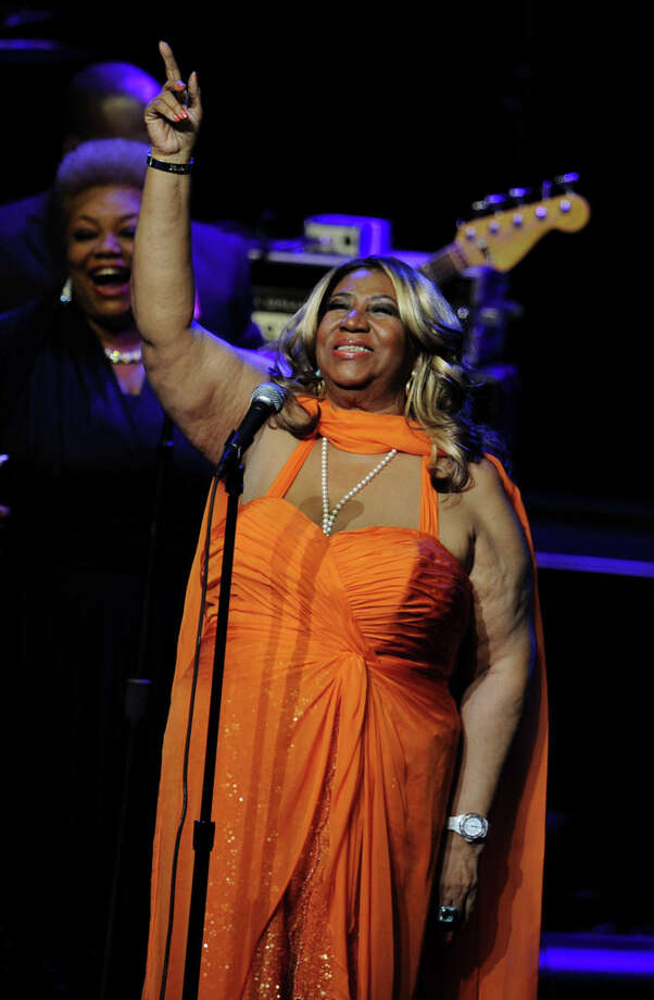 Singer Aretha Franklin performs at the Nokia Theatre L.A. Live on July 25, 2012 in Los Angeles, California.  People wrote her off as practically dead -- but she's back. (Photo by Kevin Winter/Getty Images) Photo: Kevin Winter, Getty Images / 2012 Getty Images