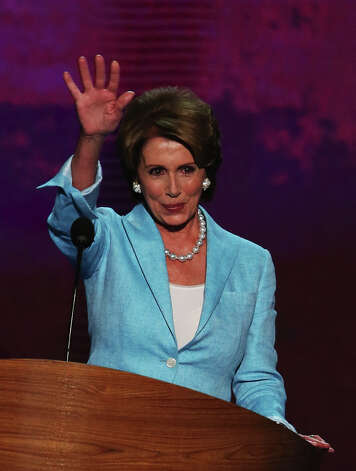 House Minority Leader Sen. Nancy Pelosi (D-CA) on September 5, 2012 in Charlotte, North Carolina. Got an insolent question from a young reporter and slapped him down. Photo: Alex Wong, Getty Images / 2012 Getty Images