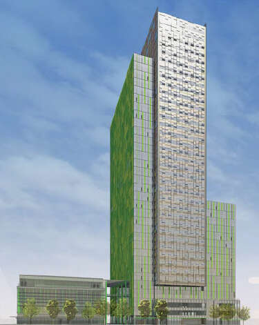 View of a proposed Amazon tower along 6th Avenue. Photo: Amazon