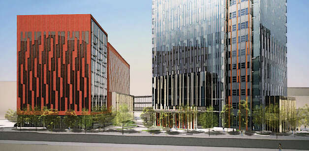 A depiction of the Amazon campus from Seventh Avenue. Photo: Amazon