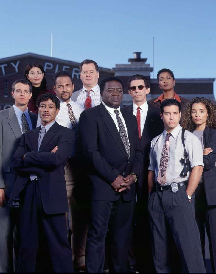 "...Lt. Al Giardello in '90s TV series ""Homicide: Life on the Street."" Yaphet Kotto appears in the front center.  Photo: Chris Haston, NBC  / NBC"