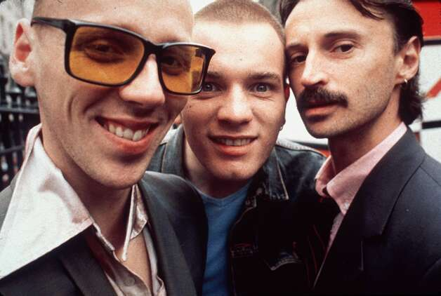 """Trainspotting"" in 1996. Ewan McGregor is in the center.  Photo: LIAM LONGMAN"