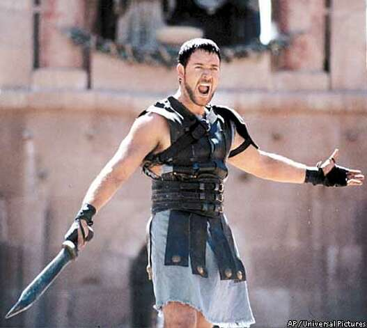 "Scott's 2000 epic movie, ""Gladiator,"" starred Russell Crowe and won the Oscar for best picture.  Photo: AP"