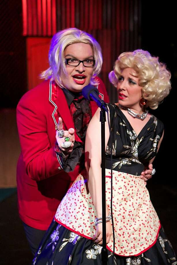 "Jason Brock and Megan Pryor-Lorentz in the return of ""Hedwig and the Angry Inch."" Photo: Peter Liu"