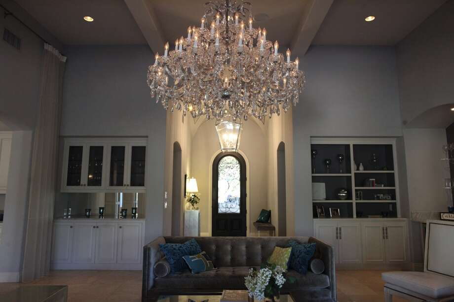 The living room in the home of Reema and Naveen Kella in San Antonio on Wednesday, Nov. 28, 2012. (San Antonio Express-News)