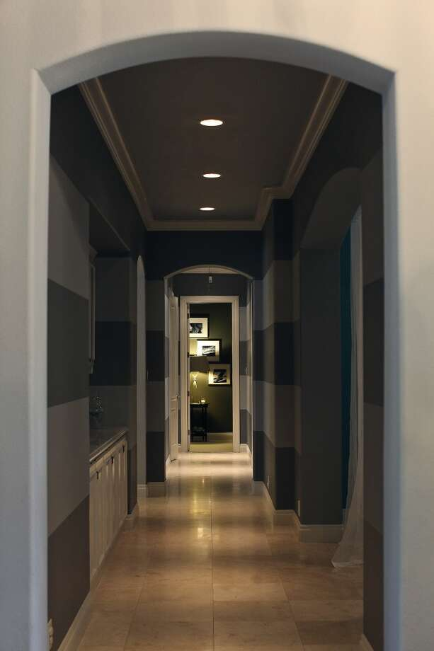 A hallway in the home of Reema and Naveen Kella in San Antonio on Wednesday, Nov. 28, 2012. (San Antonio Express-News)