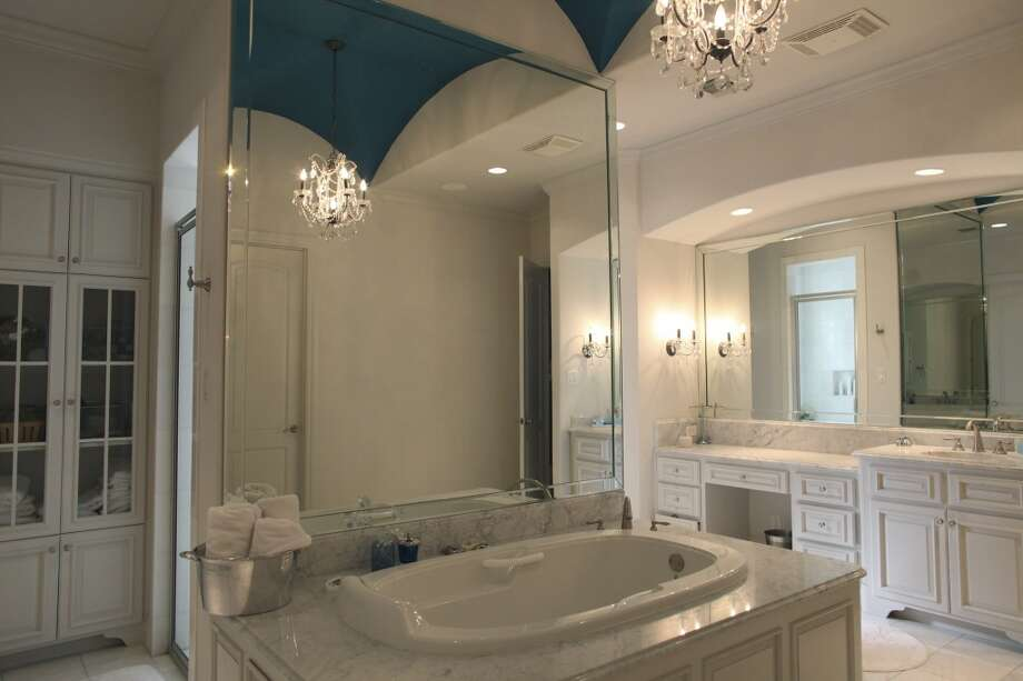 The master bathroom in the home of Reema and Naveen Kella in San Antonio on Wednesday, Nov. 28, 2012. (San Antonio Express-News)