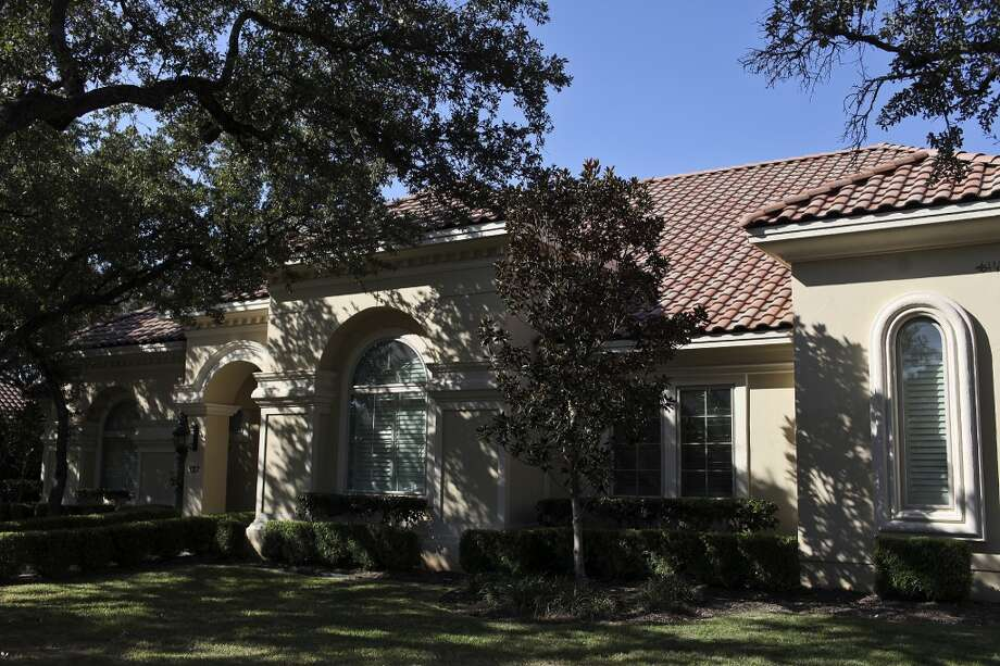 The exterior of Reema and Naveen Kella's home in San Antonio on Wednesday, Nov. 28, 2012. (San Antonio Express-News)