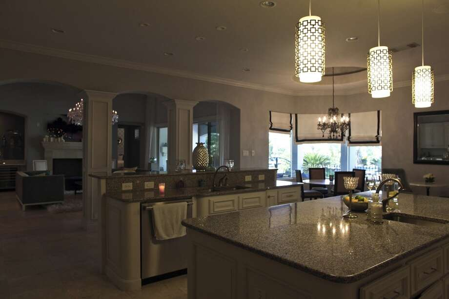 The kitchen in the home of Reema and Naveen Kella in San Antonio on Wednesday, Nov. 28, 2012. (San Antonio Express-News)