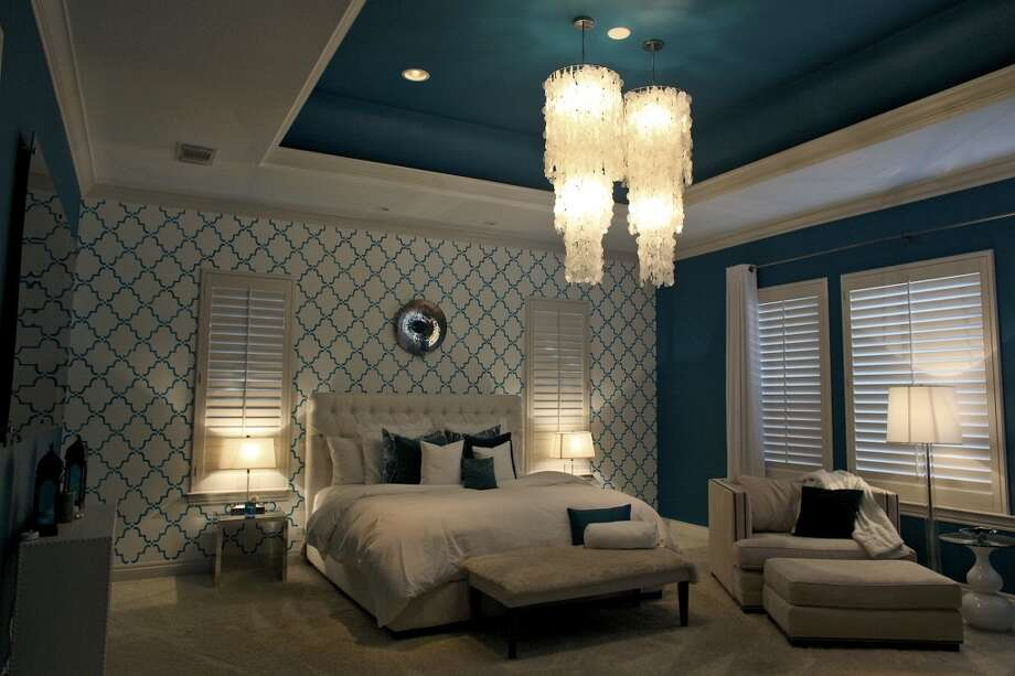 The master bedroom in the home of Reema and Naveen Kella in San Antonio on Wednesday, Nov. 28, 2012. (San Antonio Express-News)