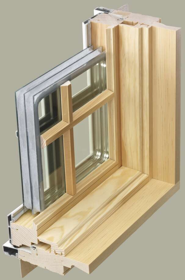 A cross section of a triple-insulated glass window produced by Kolbe & Kolbe Millwork Co. Inc. is shown here. (Courtesy photo)