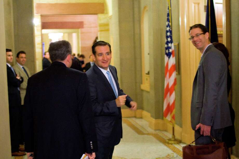 Sen.-elect Ted Cruz, R-Texas arrives for a meeting with Senate Minority Leader Mitch McConnell of Ky., on Capitol Hill in Washington, Tuesday, Nov. 13, 2012. Photo: Harry Hamburg, Associated Press / FR170004 AP