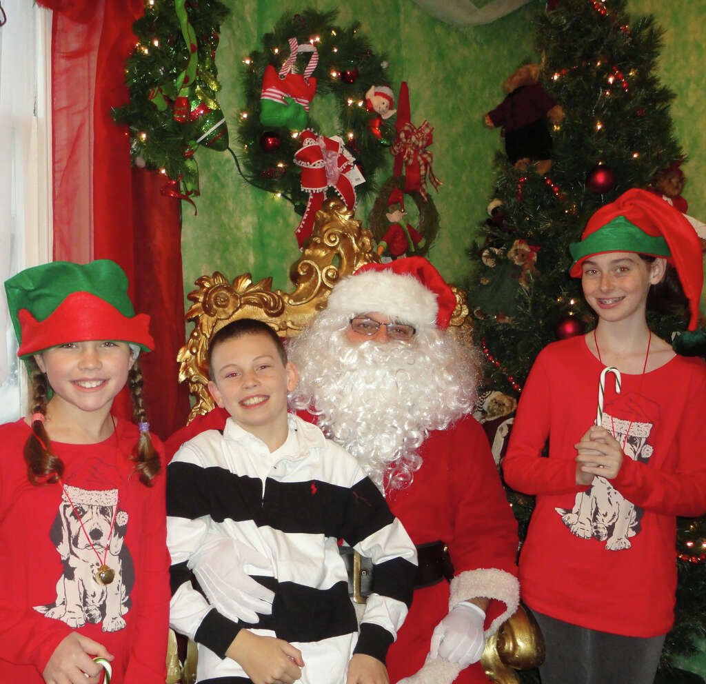 Santa Claus with his elves at the Fairfield Christmas Tree Festival: Morgan  Fisher, 11