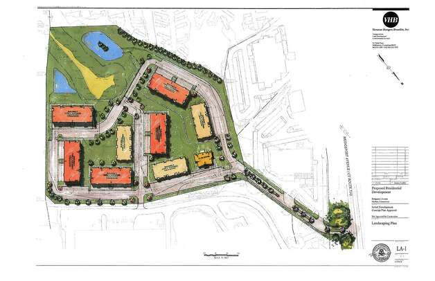 Proposed residential development on a 13-acre site off Bridgeport Ave. in Shelton, Conn. Photo: Contributed Photo