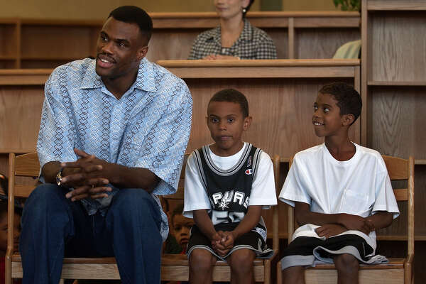 Right Was Born In San Antonio And Attends Christian Where He Will Graduate 2015 This Photo David Robinson Sits May 24 2002 At