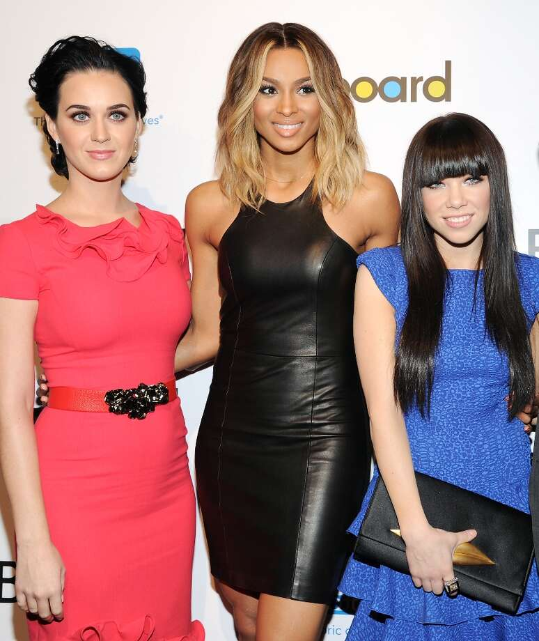 Singers, Katy Perry, left, Ciara, center, and Carly Rae Jepsen attend Billboard's Women in Music 2012 luncheon at Capitale on Friday Nov. 30, 2012 in New York. Photo: Evan Agostini, Associated Press / Invision