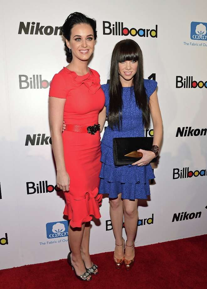 Singers Katy Perry (L) and Carly Rae Jepsen attend the 2012 Billboard Women In Music Luncheon at Capitale on November 30, 2012 in New York City. Photo: Mike Coppola, Getty Images / 2012 Getty Images