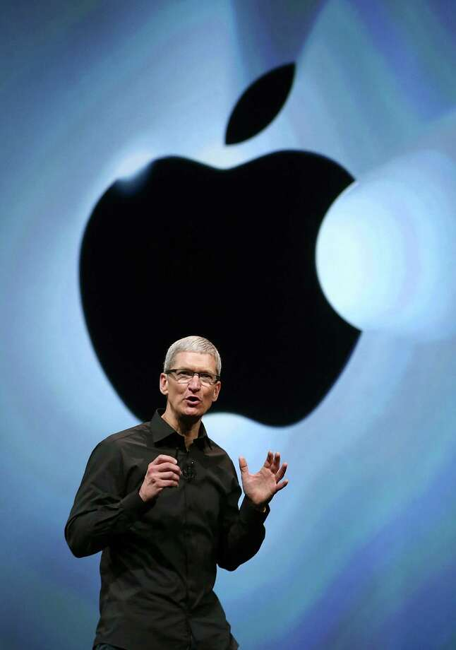 Apple CEO Tim Cook speaks during an Apple special event at the Yerba Buena Center for the Arts on September 12, 2012 in San Francisco, California. Apple announced the iPhone 5, the latest version of the popular smart phone. Photo: Justin Sullivan, Getty Images / 2012 Getty Images