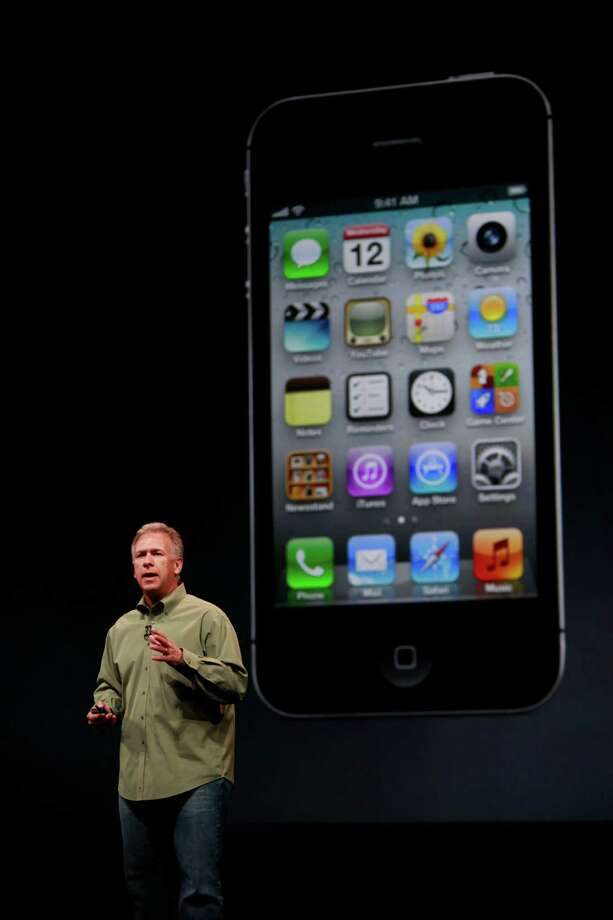 Apple's senior vice president of Worldwide Marketing, Philip Schiller introduces the new iPhone 5 at the Yerba Buena Center for the Arts on Wednesday Sep. 12, 2012 in San Francisco, Calif. The new phone features a larger screen a faster network and an updated operating system called iOS6. Photo: Mike Kepka, The Chronicle / ONLINE_YES