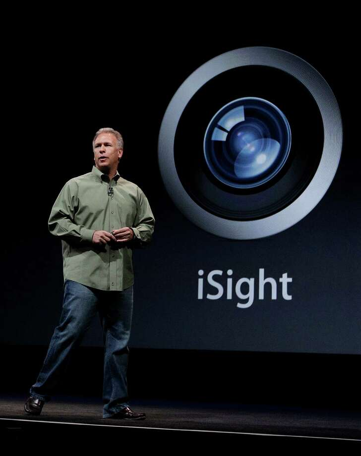 Phil Schiller, Apple's senior vice president of worldwide marketing, talks about the features of the new camera and iSight during an introduction of the new iPhone 5 at an Apple event in San Francisco, Wednesday Sept. 12, 2012. Photo: Eric Risberg, Associated Press / AP