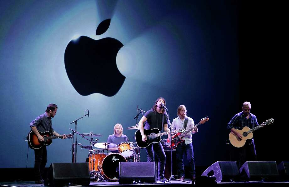 The Foo Fighters perform during an Apple event in San Francisco, Wednesday, Sept. 12, 2012. Photo: Jeff Chiu, Associated Press / AP