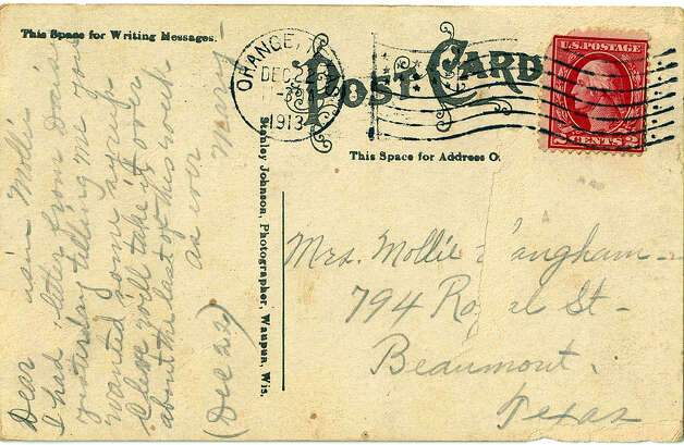 Postcards were a popular, and less expensive, way to stay in touch with the folks at home. The stamps cost less than those for a letter and you could scribble a quick message on the back of the card.  Photo provided by Lamar university