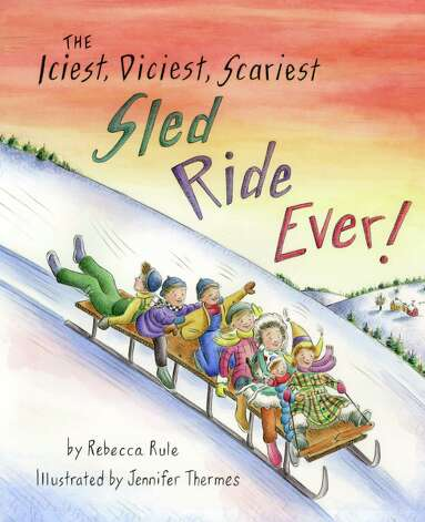 "Here is the cover of ""The Iciest, Diciest, Scariest Sled Ride Ever!"" The artist who created all of the pictures in this new children's book is Newtown resident Jennifer Thermes. Photo: Contributed Photo"