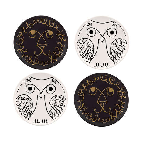 Kate Spade New York's Woodland Park coasters feature  black and white animal designs. Photo: Kate Spade