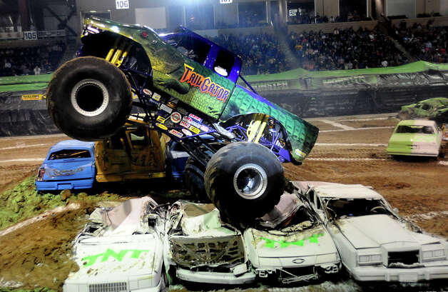 "Doug Noelke in TailGator competes in the Monster Nation Monster Truck Race at Ford Park in Beaumont, Friday"".  Tammy McKinley/ The Enterprise Photo: TAMMY MCKINLEY / Beaumont"