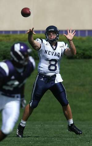 Nick Graziano was the Nevada starter before Kaepernick - and a good one. Photo: Jonathan Daniel, Getty Images