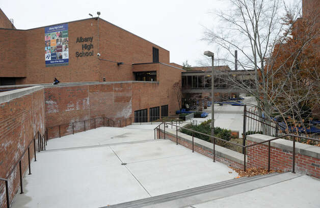 Exterior of Albany High School on Washington Avenue Friday Nov. 30, 2012 in Albany, N.Y. On Thursday night, the Albany school board began the process of creating a new high school. All of the most important details, the location, the cost and the design of the new school, will be honed during a series of 21 public input sessions. (Lori Van Buren / Times Union) Photo: Lori Van Buren