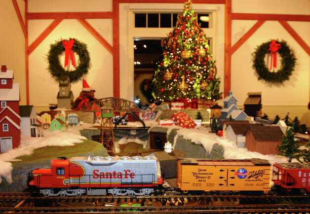 G Scale trains on display, during the annual Holiday Express Train Show at Fairfield Museum in Fairfield, Conn. on Friday November 30, 2012. Photo: Christian Abraham / Connecticut Post