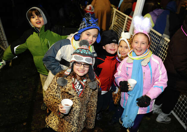 The annual Christmas Tree Lighting held on the Town Hall Green in Fairfield, Conn. on Friday November 30, 2012. Photo: Christian Abraham / Connecticut Post