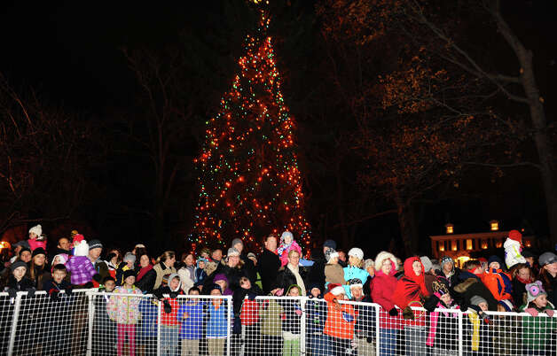 Residents eagerly await Santa during the annual Christmas Tree Lighting on the Town Hall Green in Fairfield, Conn. on Friday November 30, 2012. Photo: Christian Abraham / Connecticut Post