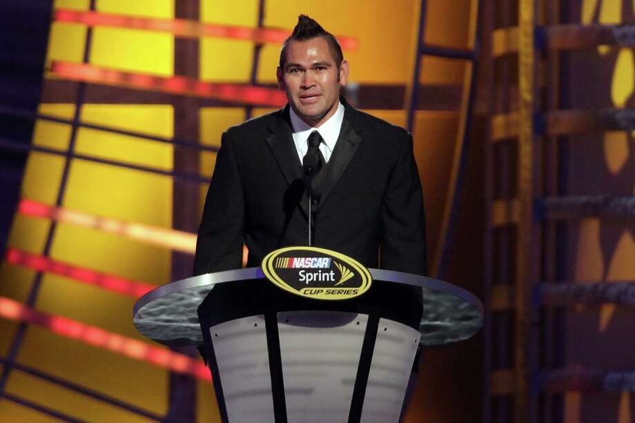 LAS VEGAS, NV - NOVEMBER 30:  Baseball Player Johnny Damon speaks during the NASCAR Sprint Cup Series Champion's Awards Ceremony at the Wynn Las Vegas on November 30, 2012 in Las Vegas, Nevada. Photo: John Gurzinski, Getty Images For NASCAR / 2012 Getty Images