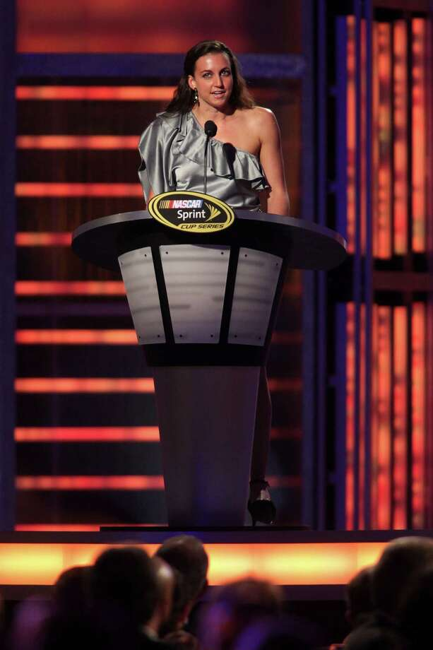 LAS VEGAS, NV - NOVEMBER 30:  Six-time Olympic medalist Swimmer Rebecca Soni speaks during the NASCAR Sprint Cup Series Champion's Awards Ceremony at the Wynn Las Vegas on November 30, 2012 in Las Vegas, Nevada. Photo: John Gurzinski, Getty Images For NASCAR / 2012 Getty Images