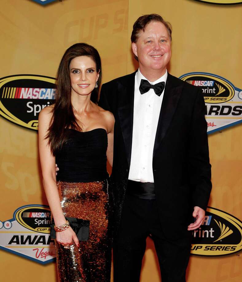 Brian France and Amy France arrive for the NASCAR Sprint Cup Series auto racing awards, Friday, Nov. 30, 2012, in Las Vegas. (AP Photo/Isaac Brekken) Photo: Isaac Brekken, Associated Press / FR159466 AP