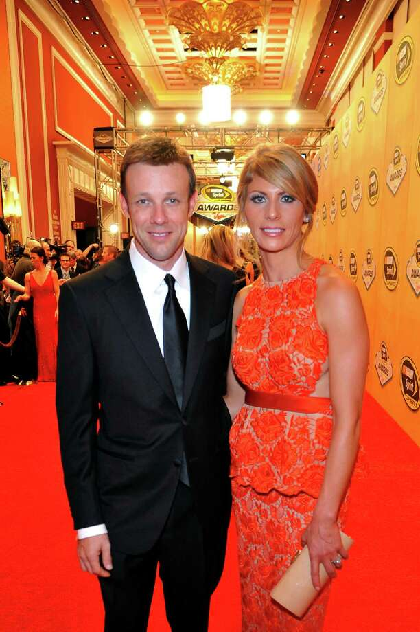 LAS VEGAS, NV - NOVEMBER 30:  Driver Matt Kenseth and his wife Katie arrive on the red carpet for the NASCAR Sprint Cup Series Champion's Awards at the Wynn Las Vegas on November 30, 2012 in Las Vegas, Nevada. Photo: Jeff Bottari, Getty Images For NASCAR / 2012 Getty Images