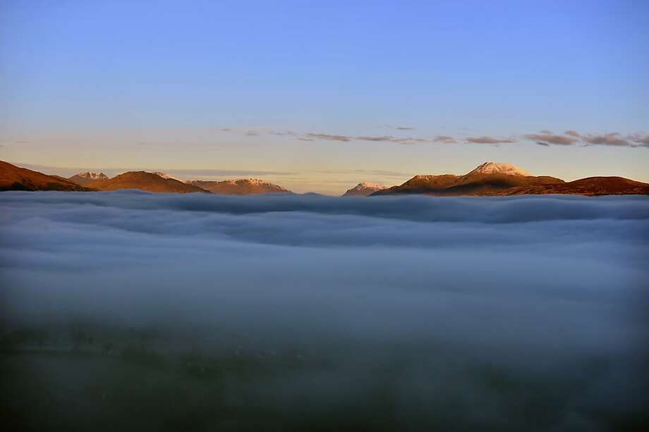 A view of Loch Lomond from Duncryne hill, by Gartocharn on November 30, 2012 in Loch Lomond, Scotland. Weather warnings have been issued as temperatures start to fall below freezing across many parts of the UK. The cold snap follows recent, severe flooding, which has affected areas of Western and Northen England. Photo: Jeff J Mitchell, Getty Images