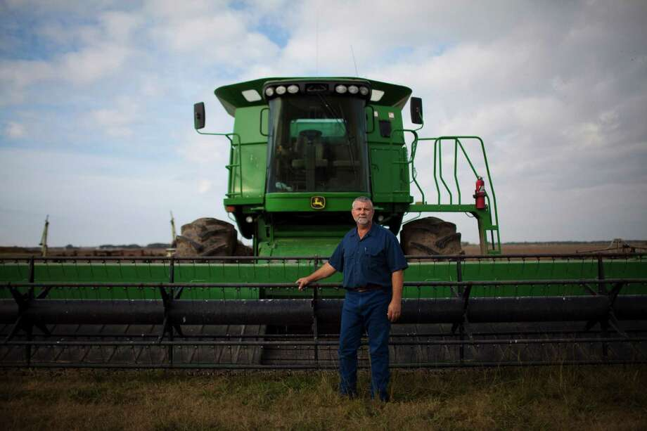 Farmer Daniel Berglund on his farm, Nov. 29, 2012 near El Campo, TX. Photo: Eric Kayne / 2012 Eric Kayne