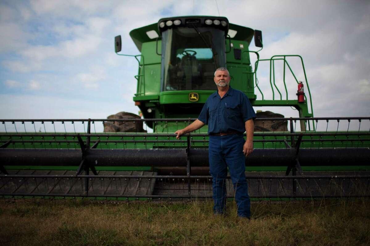 Farmer Daniel Berglund on his farm, Nov. 29, 2012 near El Campo, TX.