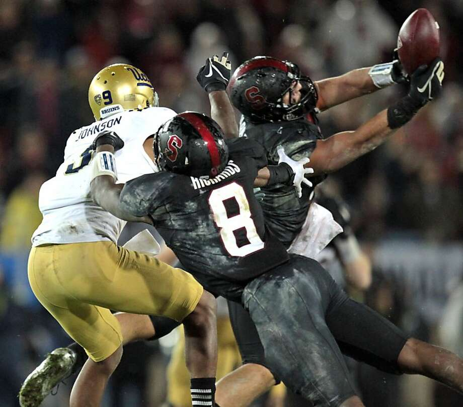 Stanford AJ Tarpley broke up a UCLA drive late into the fourth quarter Friday Nov. 30, 2012, Stanford won the Pack 12 championship game with UCLA. Stanford 27-24. Photo: Lance Iversen, The Chronicle