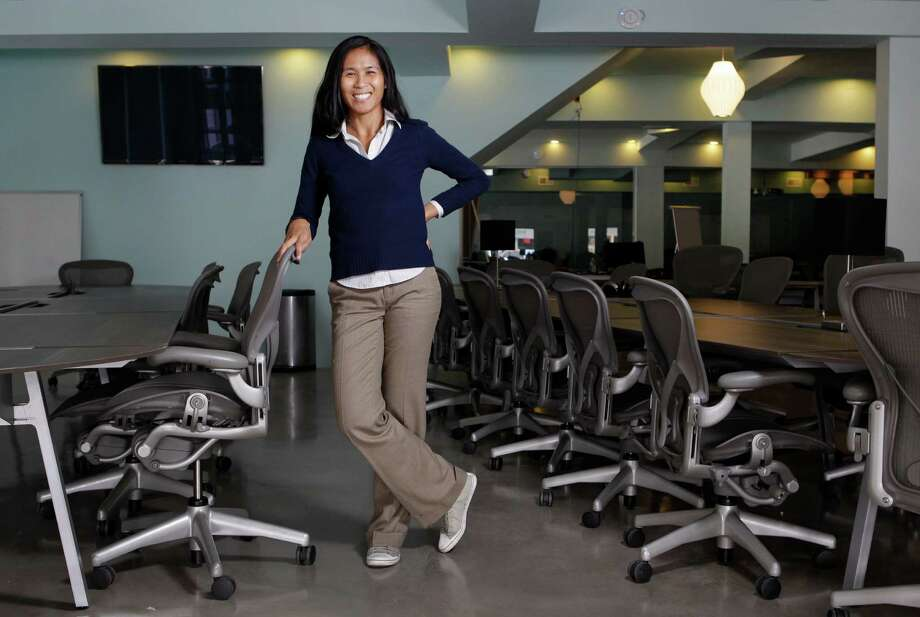 Emily Yau, co-founder at Platform, says the co-working space in Rice Village plans to offer classes and science-focused events in addition to communal office space. The goal is to nurture the growth of the Houston tech community. Photo: Melissa Phillip, Staff / © 2012 Houston Chronicle