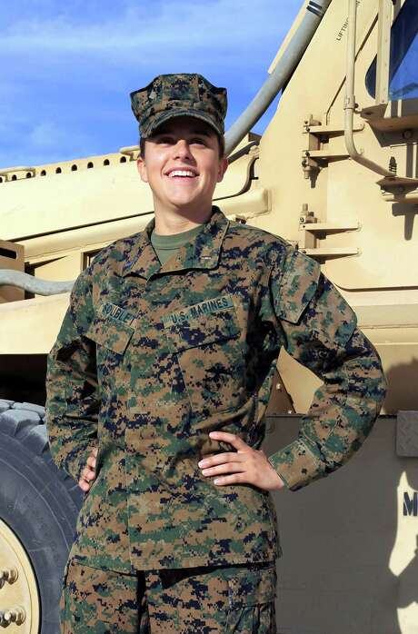 1st Lt. Brandy Soublet is one of 45 female Marines assigned to 19 all-male combat battalions. Women make up only 7 percent of the corps. Photo: Cpl. William J. Jackson, Associated Press / USMC