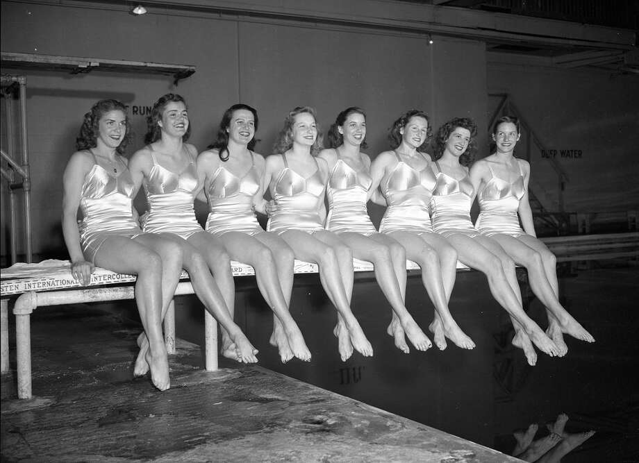 May 2, 1947: Members of the Crystal Plunge swim team, including Ann Curtis (far right), who won two gold medals and a silver at the 1948 Olympics in London.  (Chronicle file)