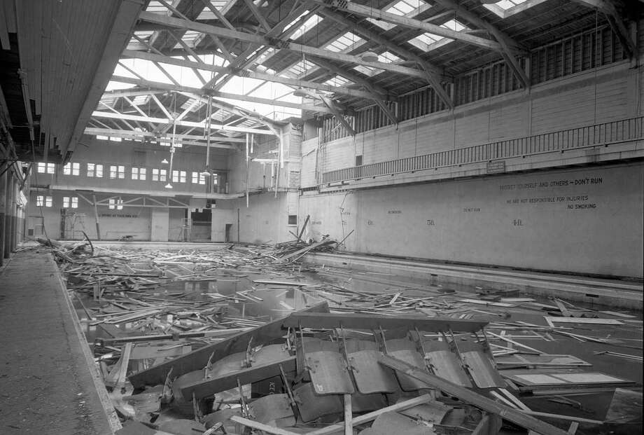 July 15, 1958: The Crystal Plunge, early in the demolition process.  (Chronicle file)